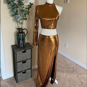 Janet chrome skirt set